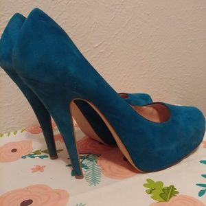 Aldo teal pumps